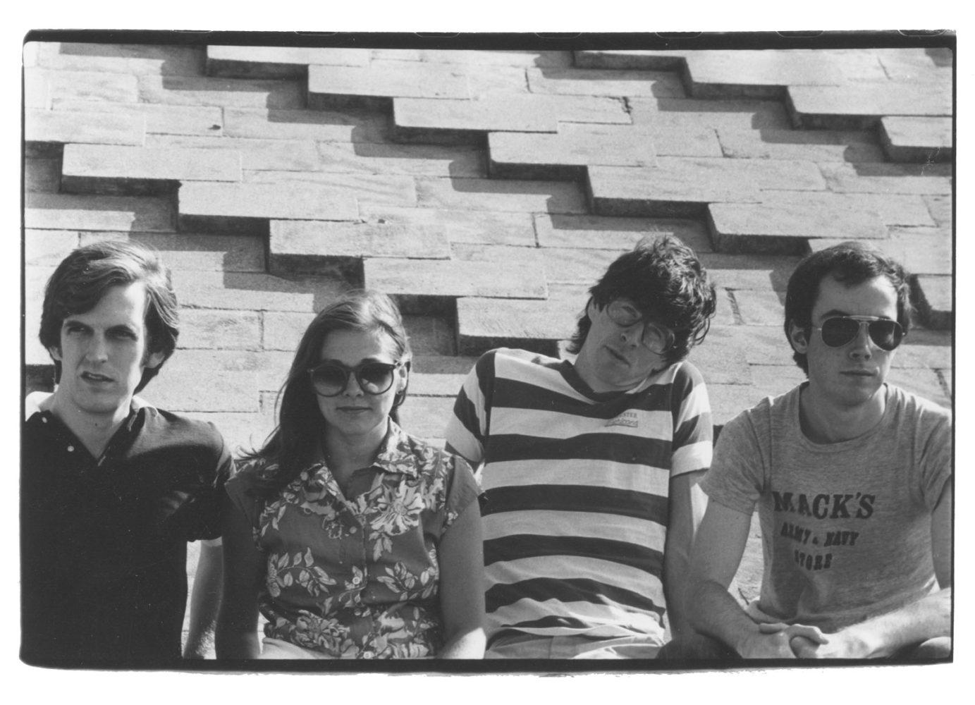 Ned Hoskin - guitar/vocals,Peggi Fournier - saxophone/farfisa/vocals, Paul Dodd - drums, Martin Edic - bass. Hi-Techs promo photo for promotional postcard. Photo by Linnae Fischer.