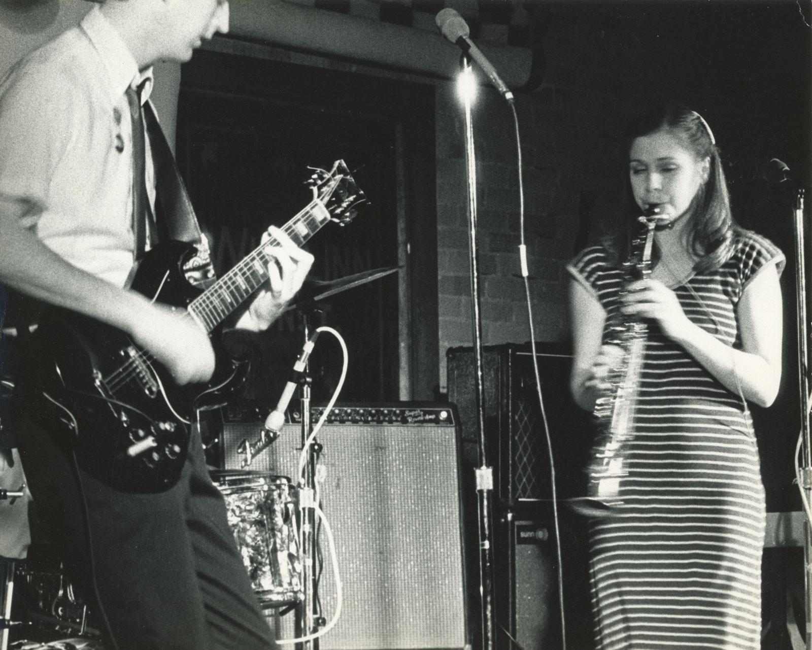 HiTechs' Ned Hoskin - guitar and Peggi Fournier - soprano saxophone, 1980