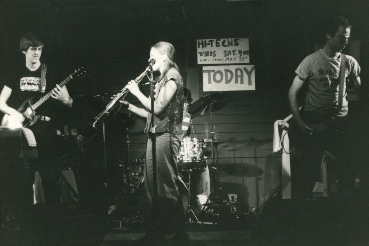 Hi-Techs performing in the back room at Record Archive on Saturday May 31 1980