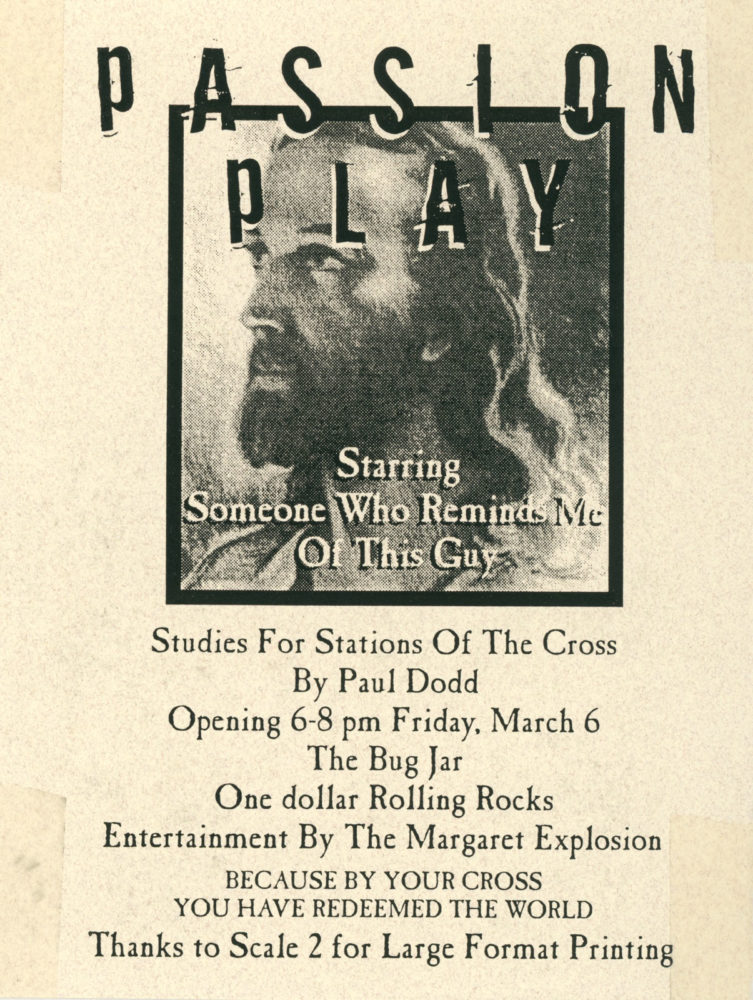"""Passion Play"" by Paul Dodd  - 1998 Postcard for Bug Jar Show"