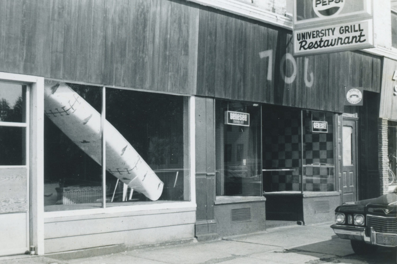 University Grill, next door to Towner's on University Avenue in Rochester, New York - photo by Paul Dodd 1976