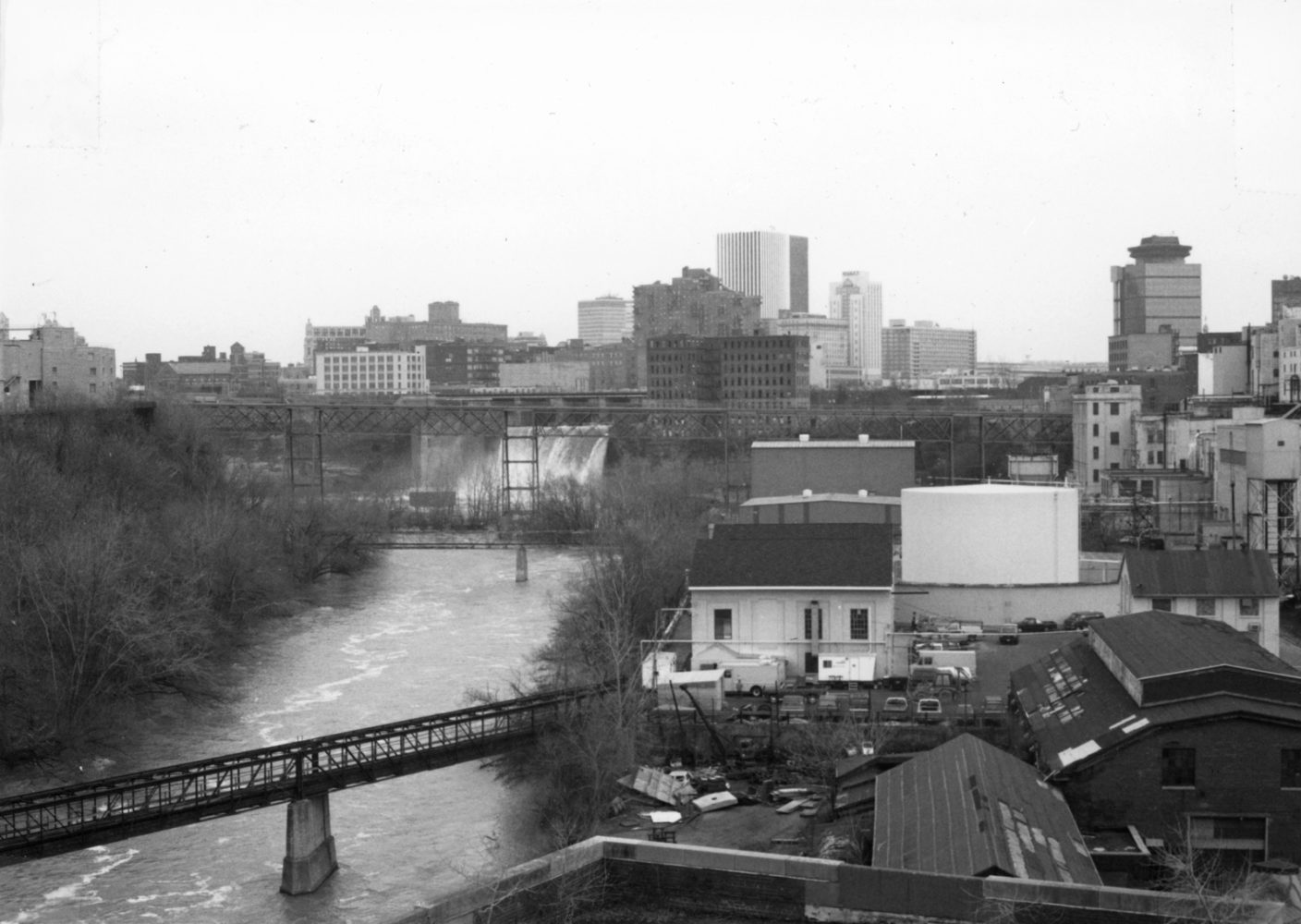 High Falls area - photo by Paul Dodd 1976