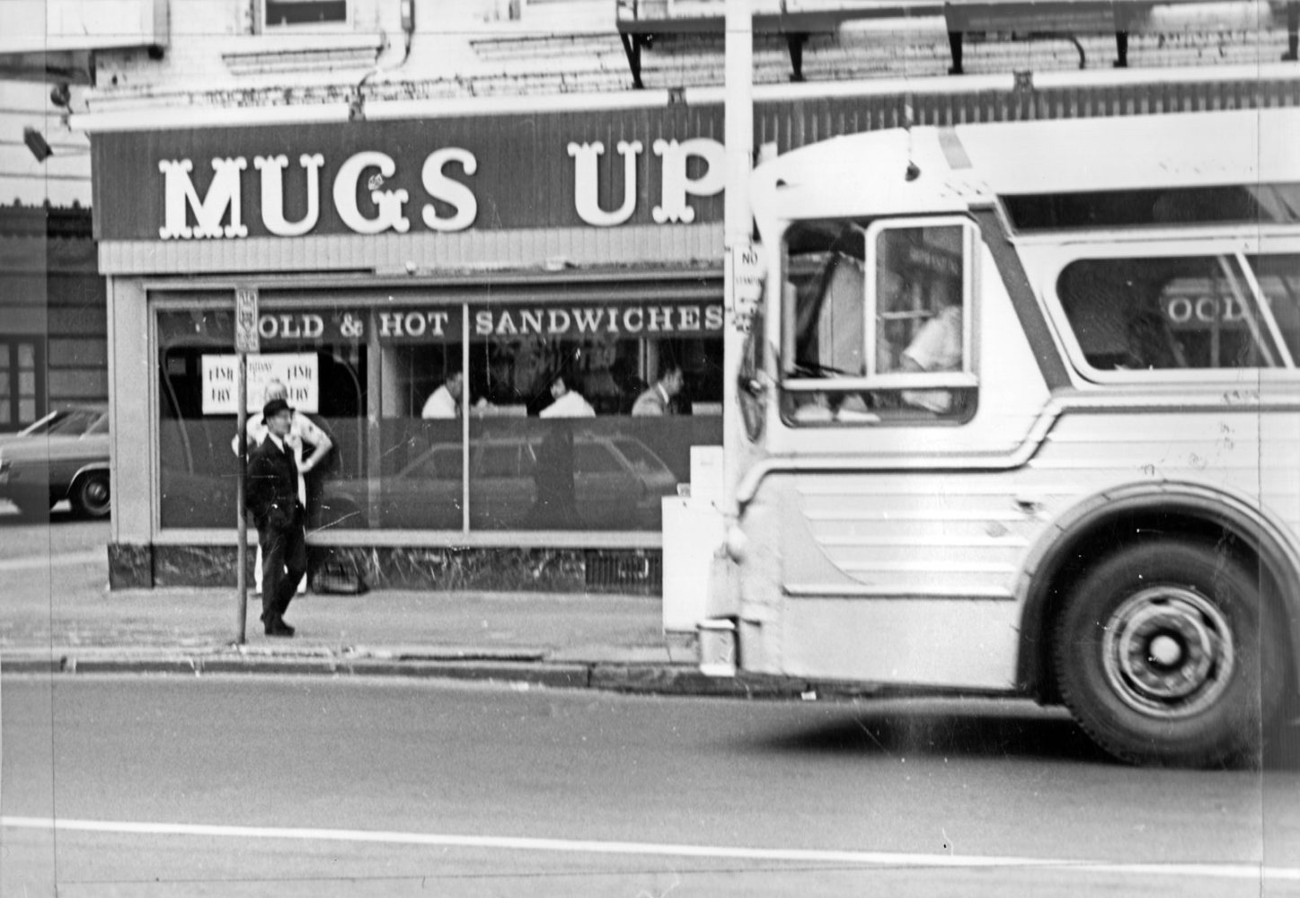 Muggs Up located where Sibley Library is today, across street from Eastman Theater - Paul Dodd photo 1976