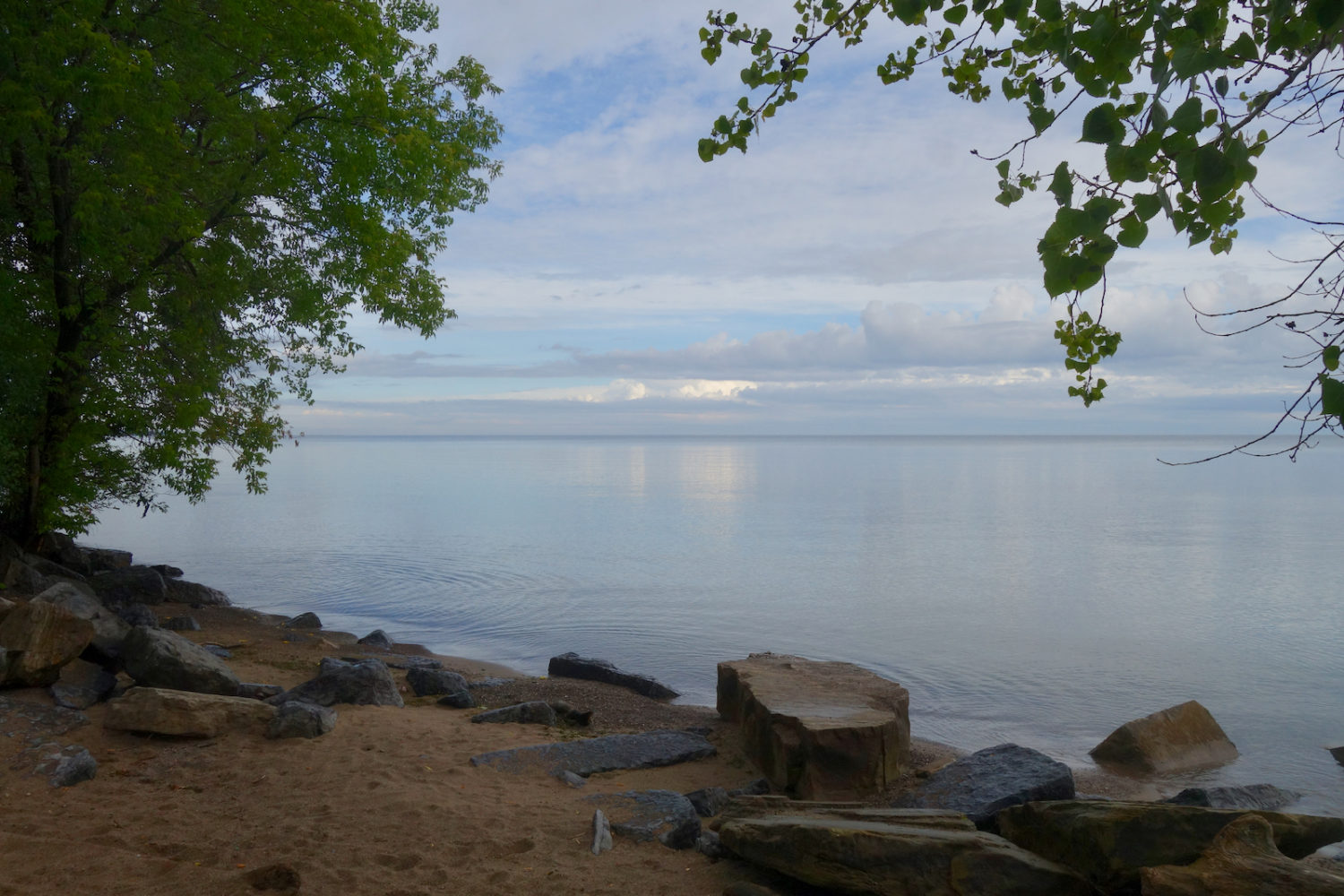 Durand Beach early this morning just after the rain.