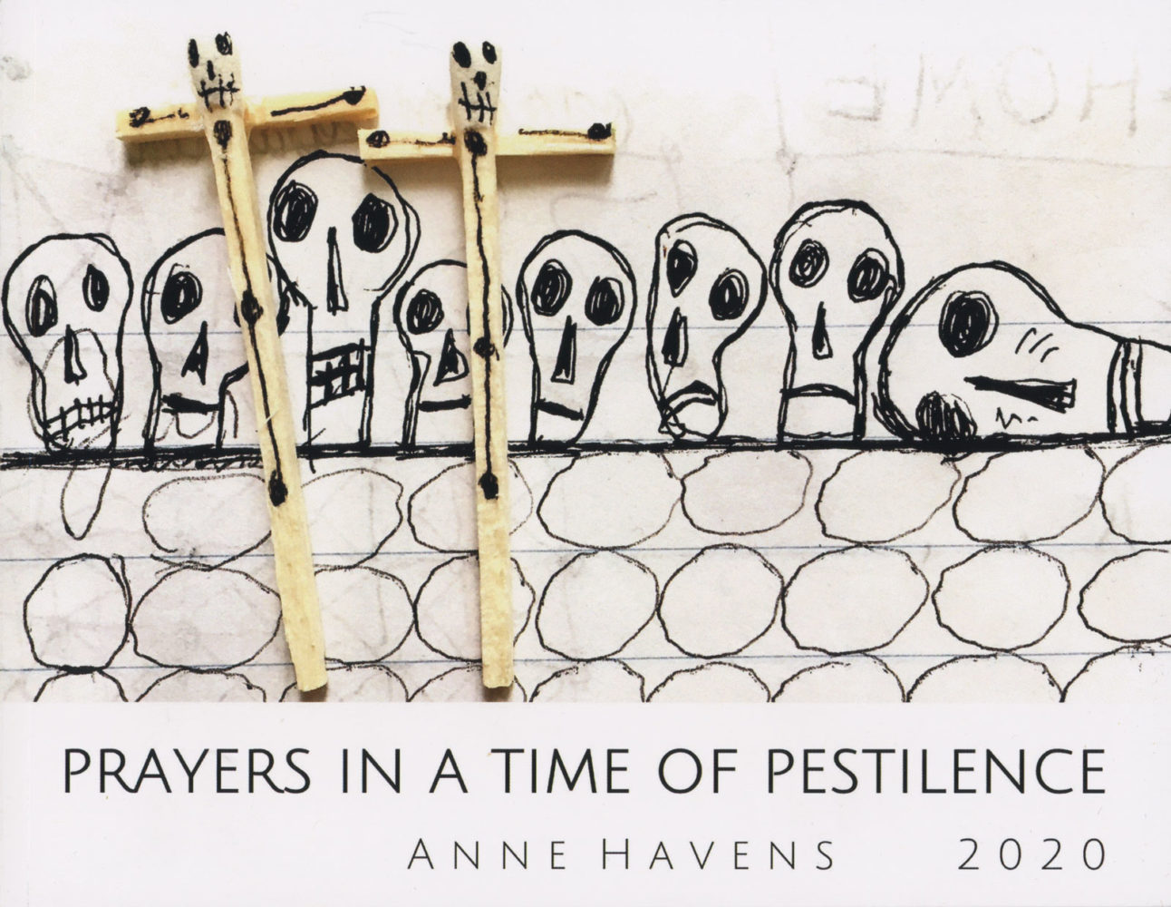 "Anne Havens book cover for her""""Prayers in a Time of Pestilence."""