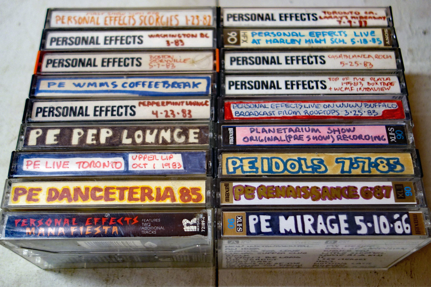 Personal Effects cassettes from the early 80s