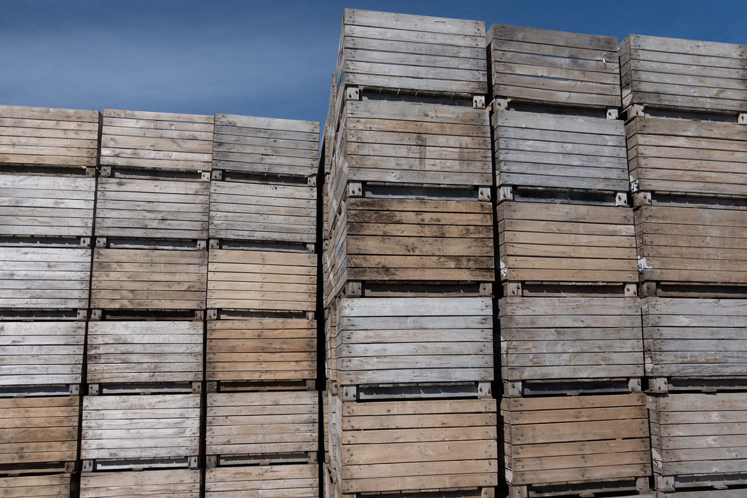 Apple crates near Pultneyville, New York