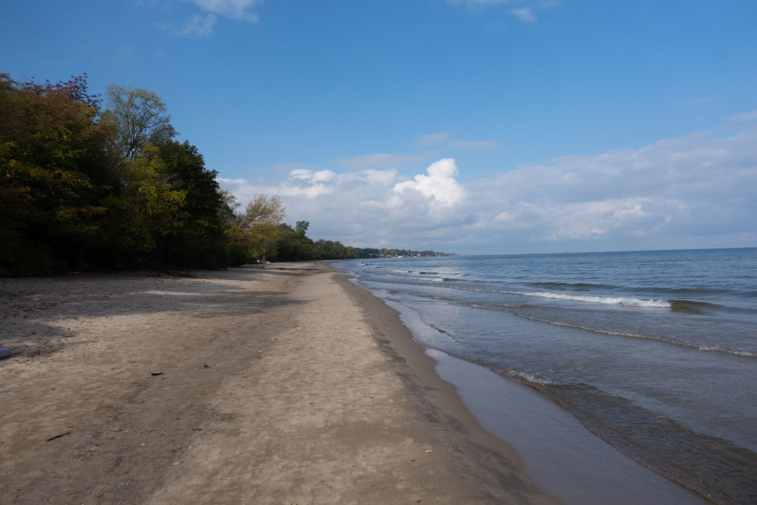 Durand Beach looking west toward Charlotte in October