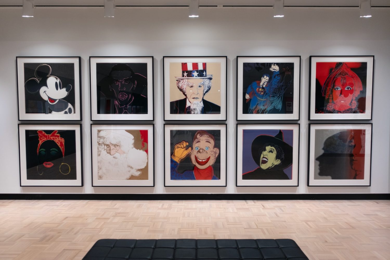 "Andy Warhol ""Myths"" series of silkscreens at Memorial Art Gallery in Rochester, New York"