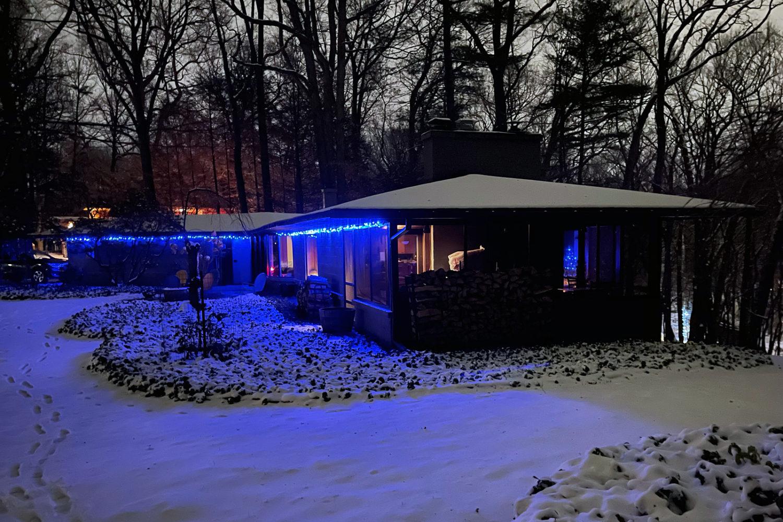 145 at night near Christmas. Photo by Peggi Fournier