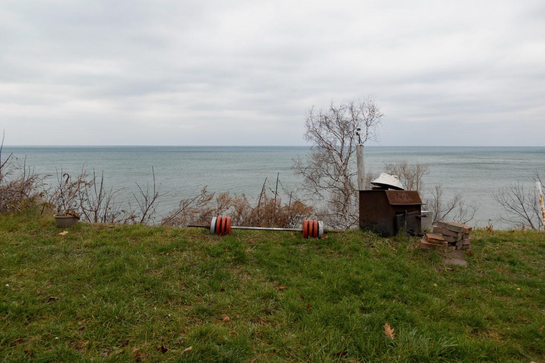 Barbells along Lake Bluff Road, Sea Breeze NY