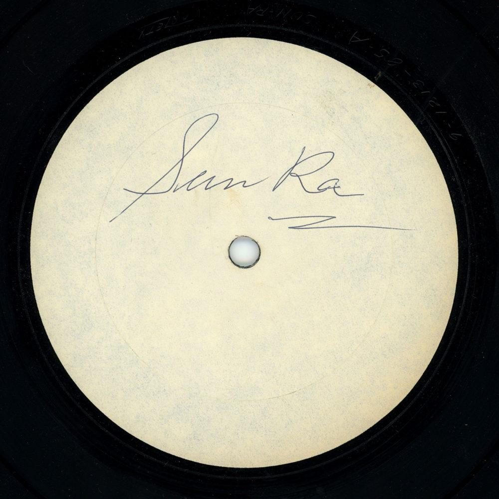Sun Ra autographed record