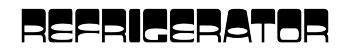Refrigerator logo by Paul Dodd at 4D Advertising in Rochester, New York