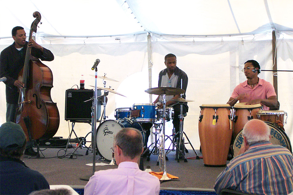Jane Bunnett with Cuban band performing at the 2002 Rochester International Jazz Festival