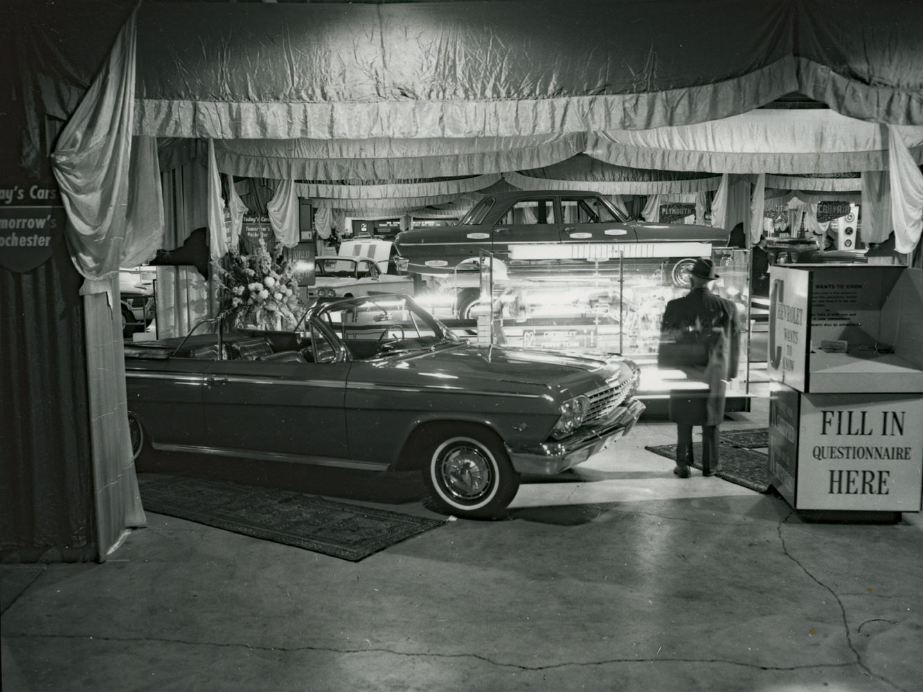 1962 Auto Show at War Memorial in downtown Rochester – photo from City of Rochester