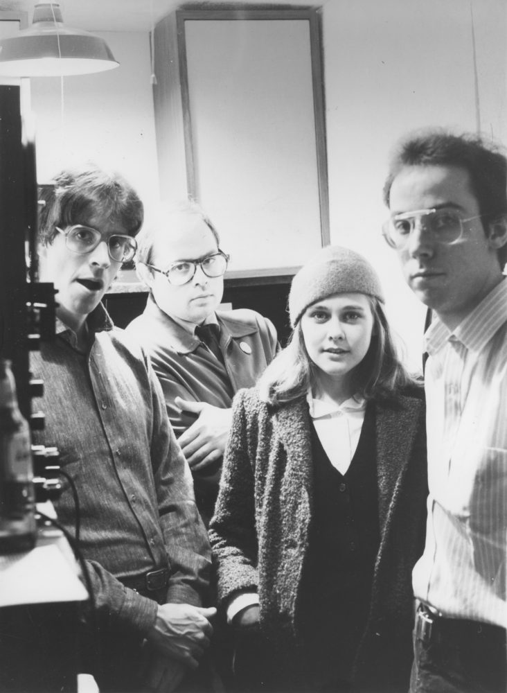First Hi-Techs recording session 1999. Line up included Paul Dodd on drums, Duane Sherwood on synth, Peggi Fournier on Farfisa and soprano sax and Martin Edic on bass. The track Pompei was recorded here and released on From the City that Brought You Absolutely Nothing.Photo by Robert Marsela