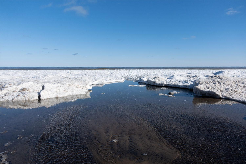 Ice on Lake Ontario Eastman inlet