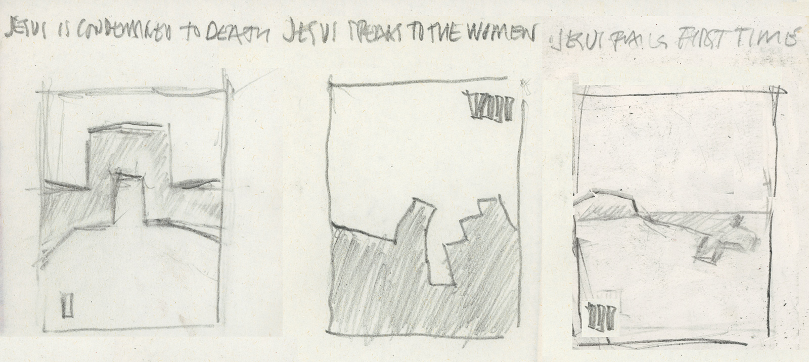 Sketches for Stations of the Cross 2021
