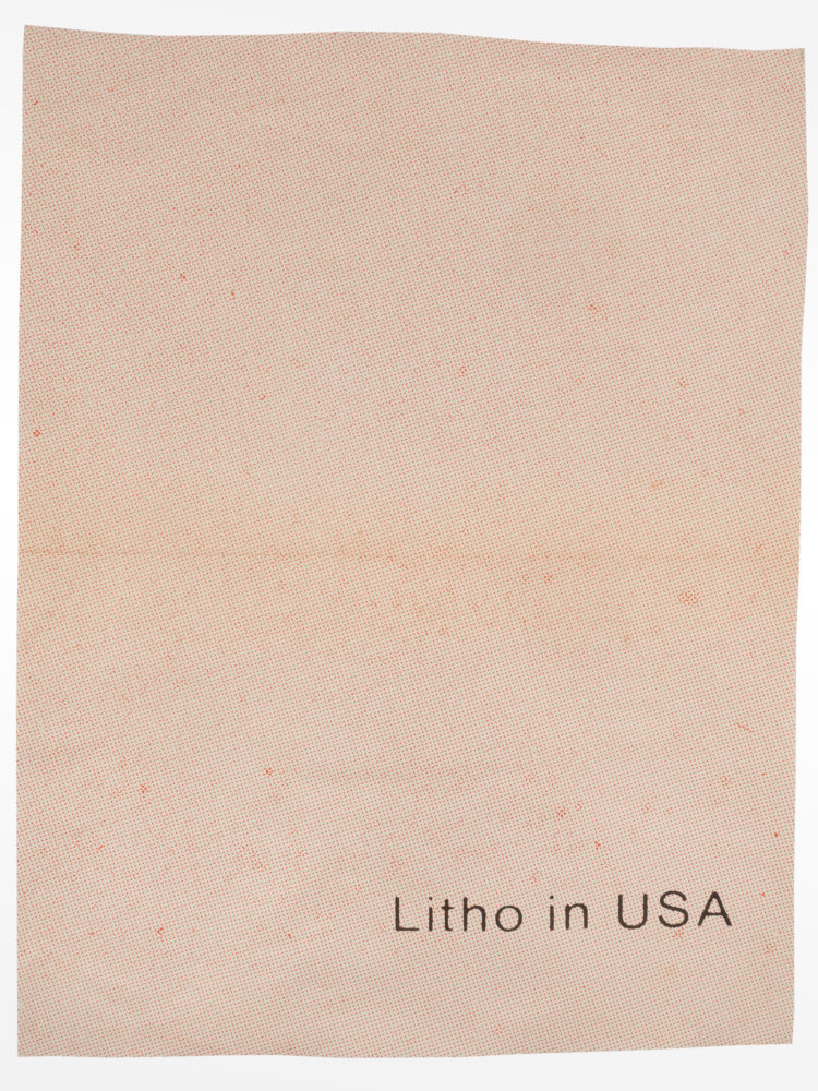 """""""Litho In USA 07"""" collage 18"""" x 24"""" 2021 Paul Dodd"""