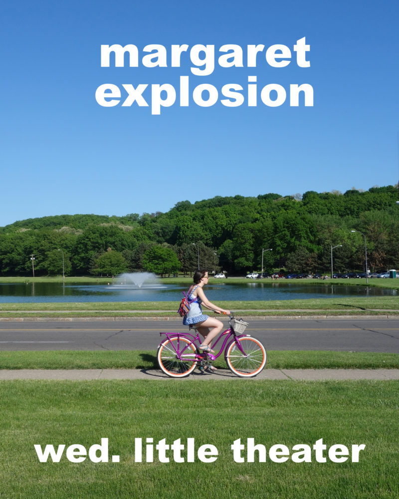 Margaret Explosion poster for Little Theatre 5 gig on Wednesday, May 19, 2021