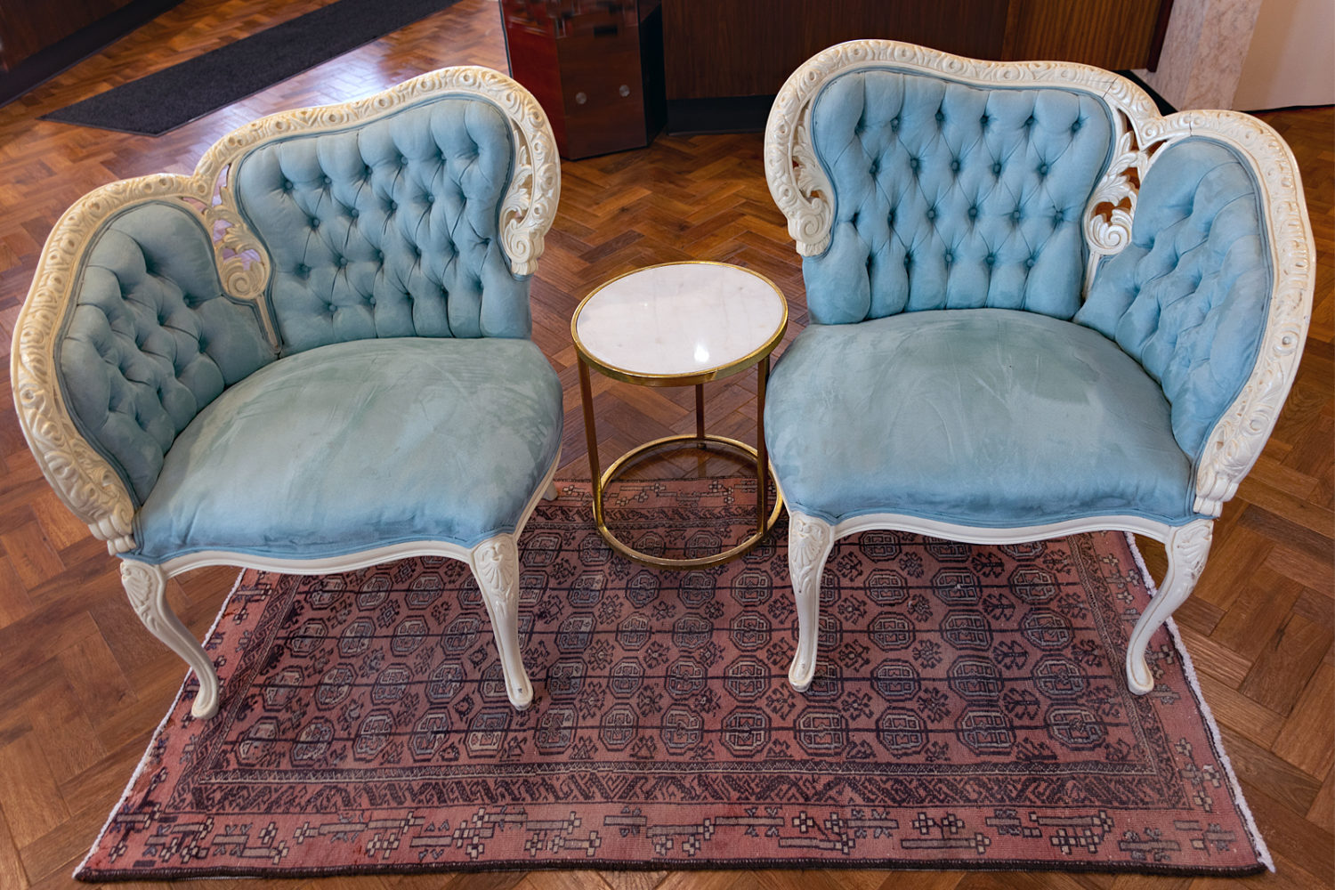 Victorian chairs at Gem Lab on Mount Hope