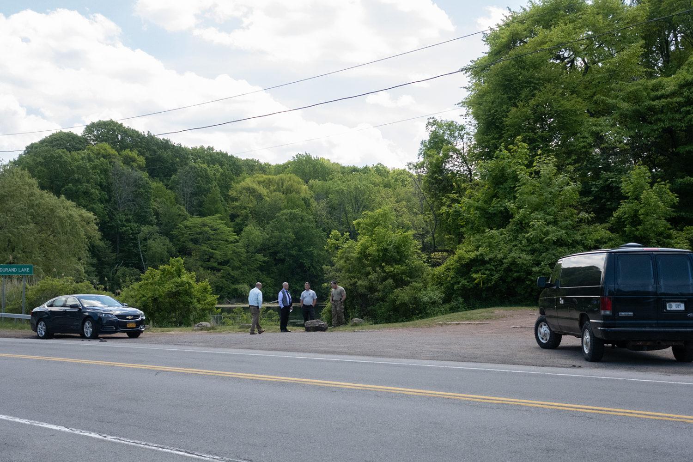 New York State scuba divers at Durand Lake crime scene