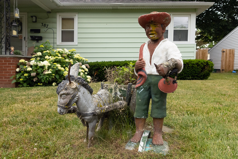 Mexican lawn statue off Culver Road