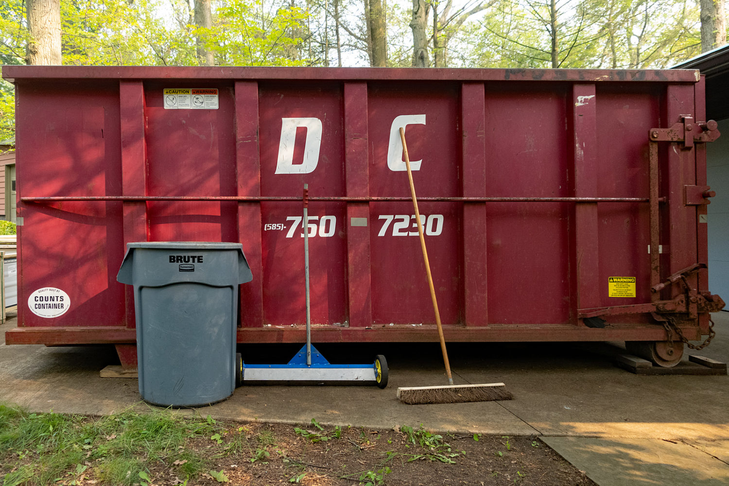 Dumpster in our driveway
