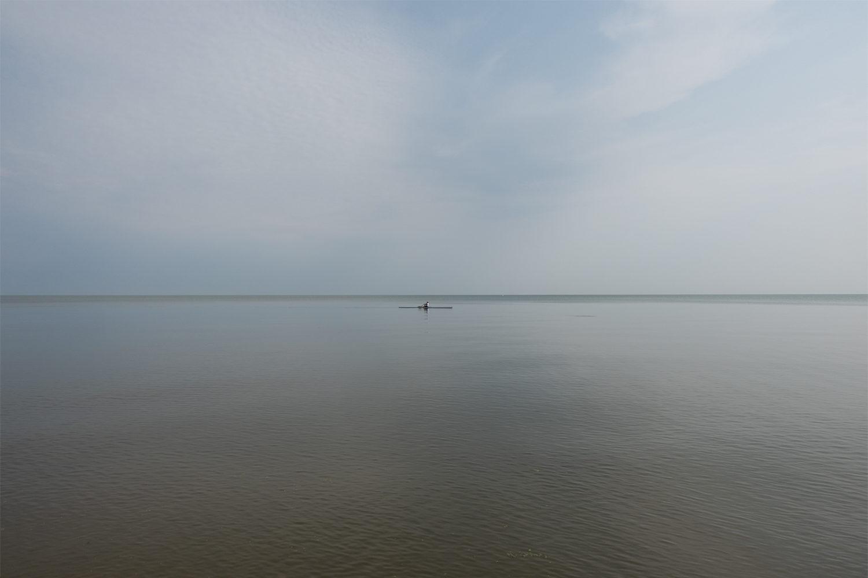 Kayak on Lake Ontario on a calm day