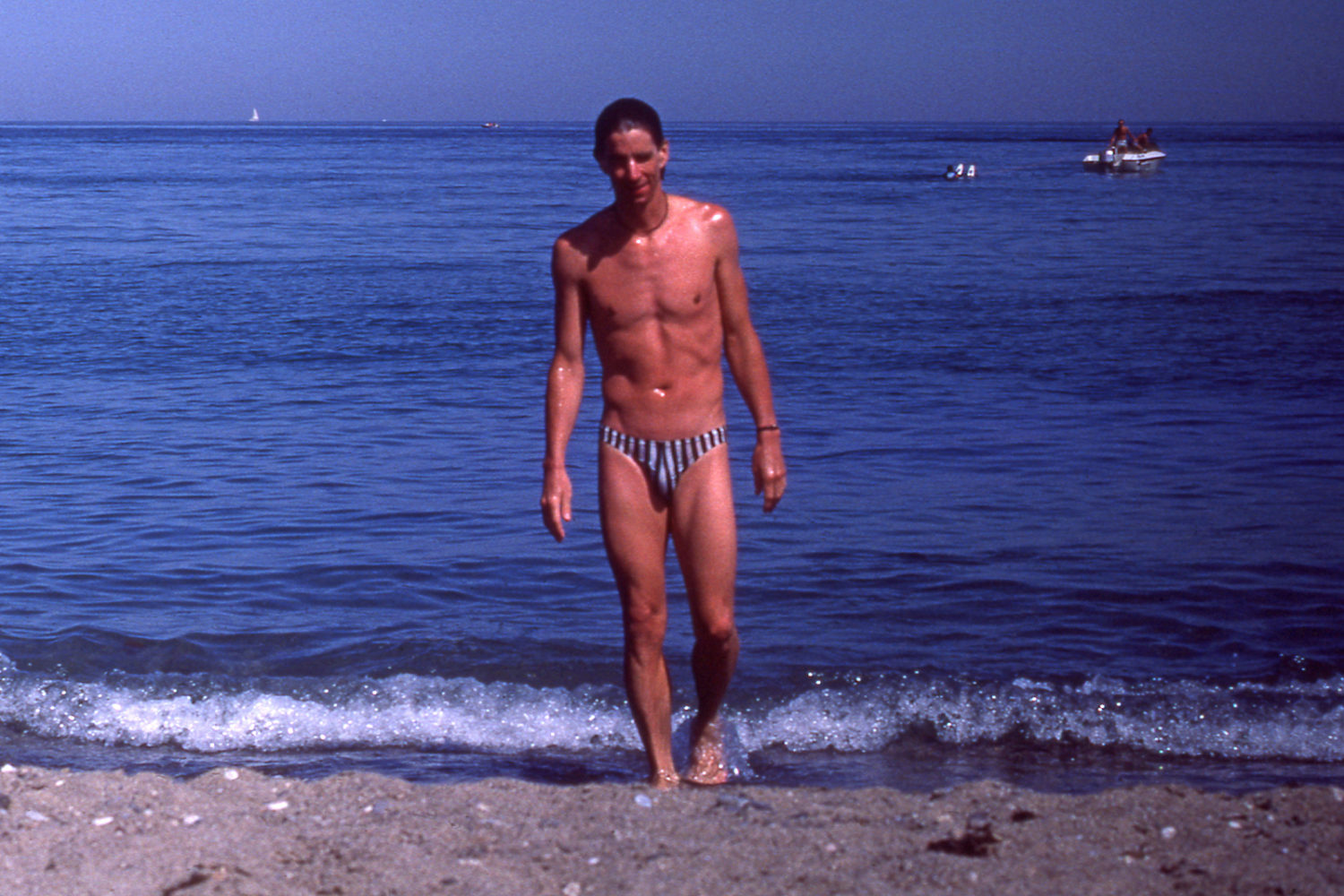 Paul on beach in Southern Spain. Photo by Peggi