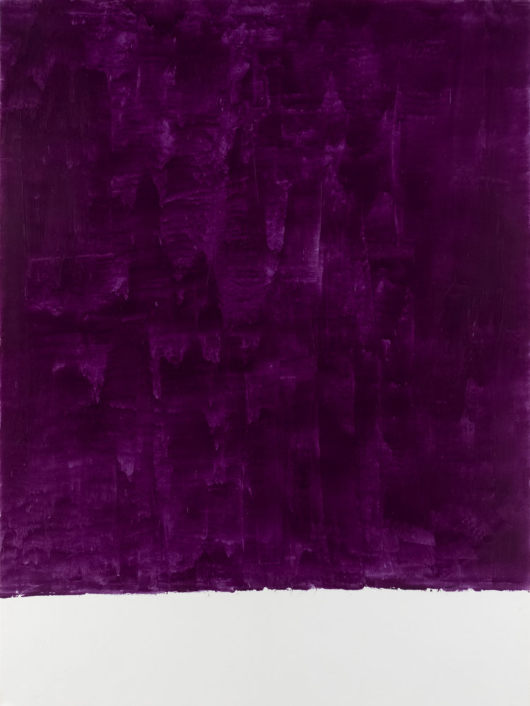For Fritz (Colbalt Violet), acrylic on paper, 18″w by 24″h, 2021 Paul Dodd