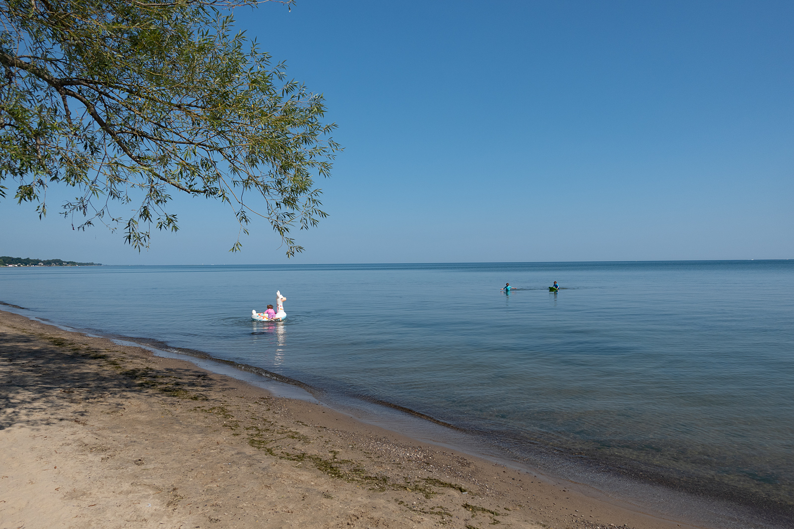 Kids in the water at Durand Eastman beach