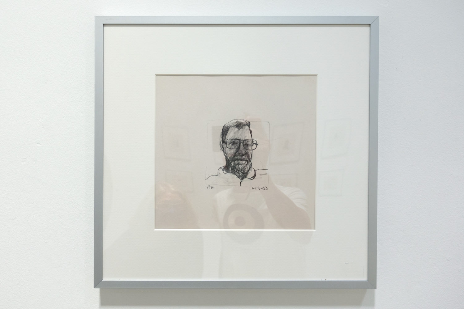 """Anne Havens drawing of Stewart Davis in """"Sarasota 2003"""" show at Rochester Contemporary"""