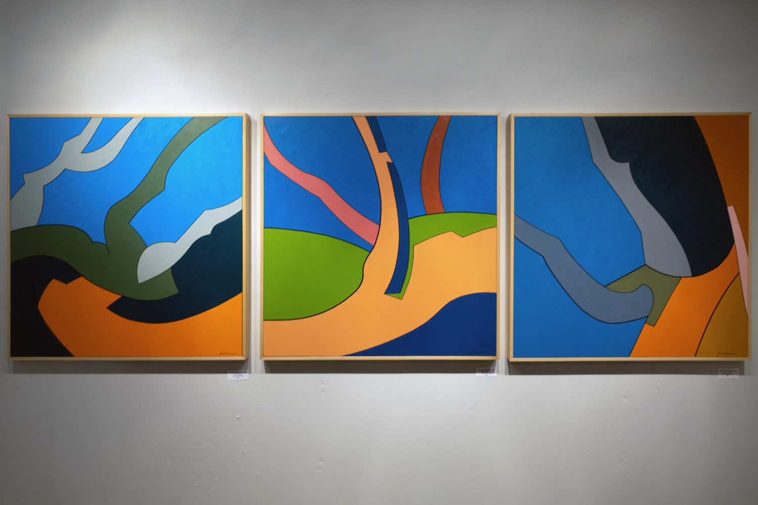"""Jim Thomas """"Tree Of Life Reborn"""" 2021 from Jim & Gail Thomas """"Side by Side"""" paintings and pastel drawings Studio 402 Anderson Arts Building"""