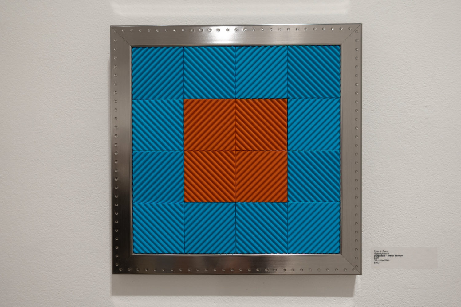 Peter Sucy 3D printed tiles in Arena Artists Show at Rochester Contemporary