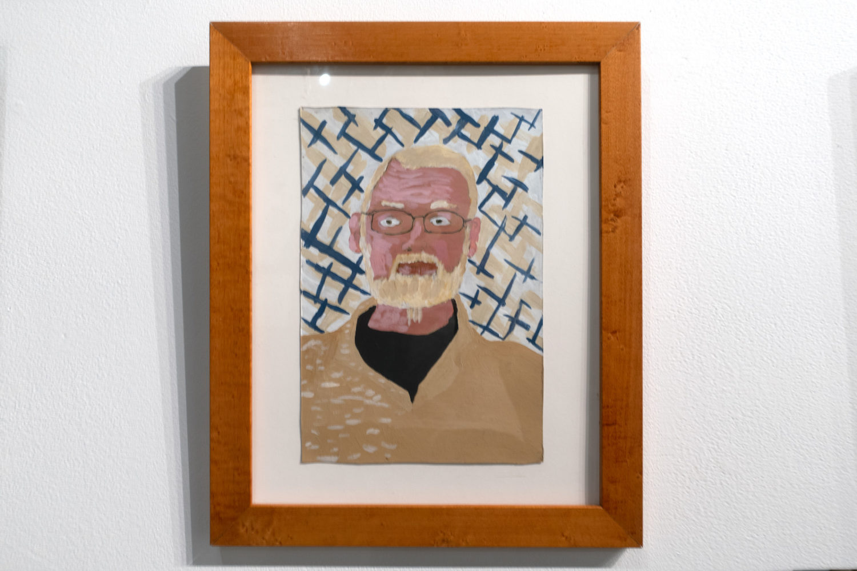 "Stewart Davis Self Portrait in ""A Memorial Exhibition at Rochester Contemporary"