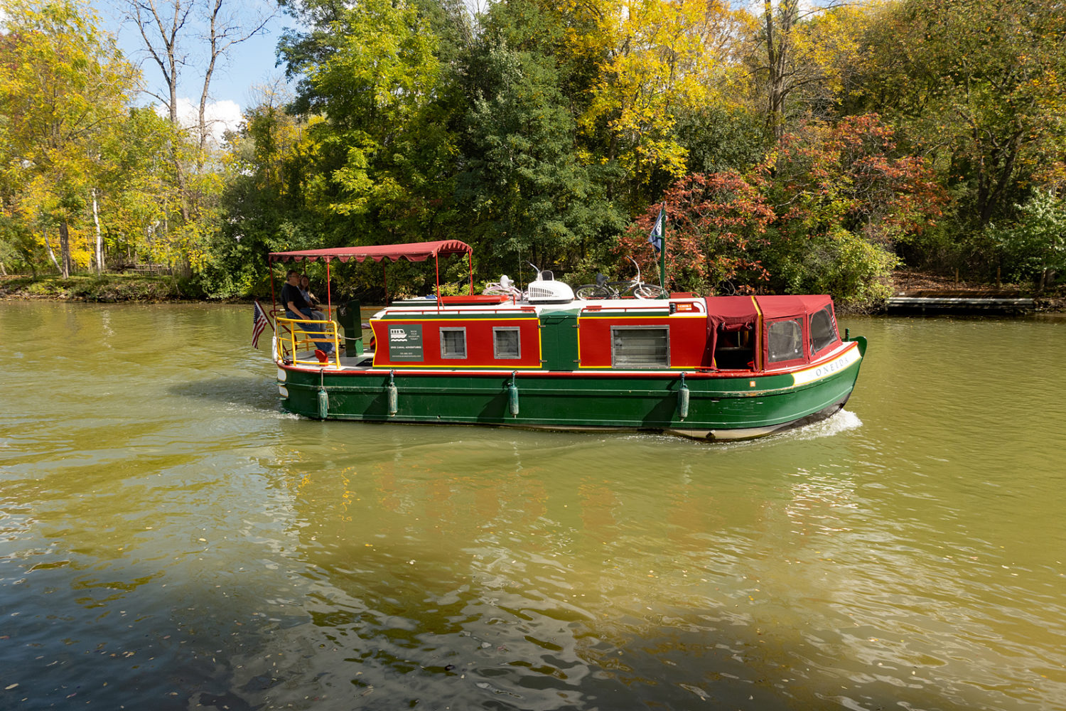 Boat along the Erie Canal near Fairport