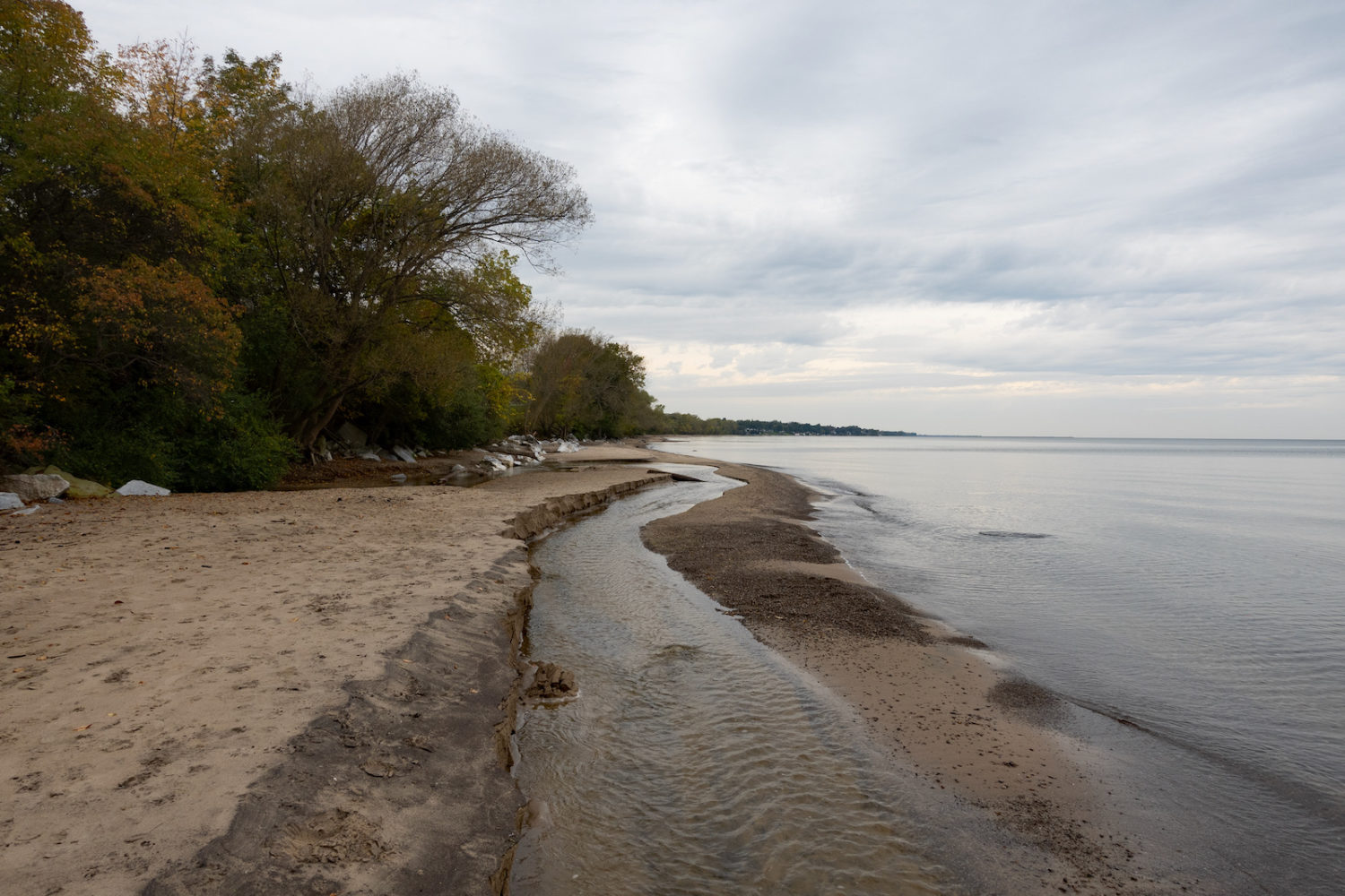 Outlet from Eastman Lake flowing into Lake Ontario at Durand