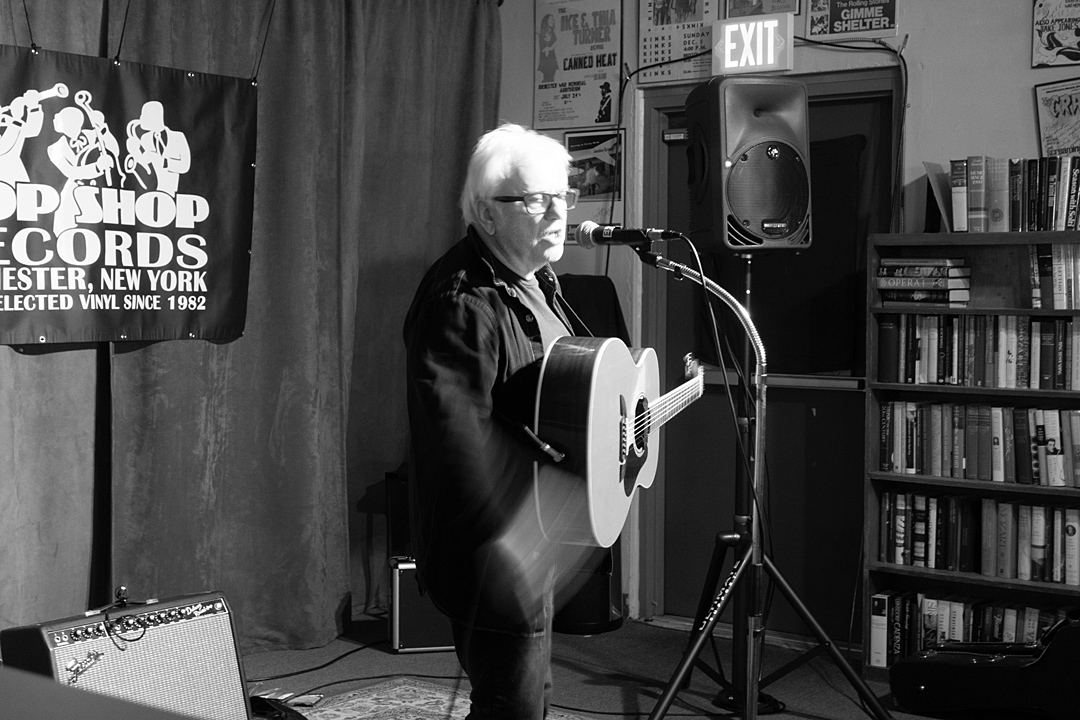 Wreckless Eric performing at the Bop Shop in Rochester, New York 2021